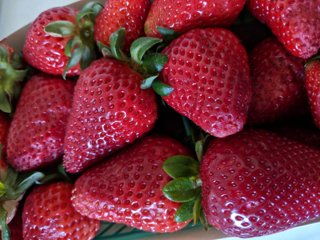 bright red strawberries